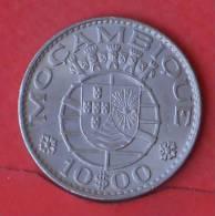 MOZAMBIQUE  10  ESCUDOS  1974   KM# 79b  -    (Nº01967) - Mosambik