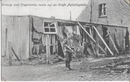 AK  Wirkung Einer Fliegerbombe,rechts Auf Der Strasse Aufschlagstelle  Westflandern ?1.WK ,Feldpost - Guerre 1914-18