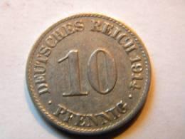 ALLEMAGNE - 10 PFENNIG 1914 A. - 10 Pfennig