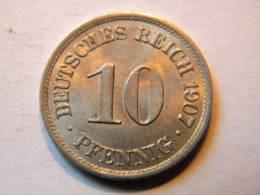 ALLEMAGNE - 10 PFENNIG 1907 A. - [ 2] 1871-1918 : Imperio Alemán