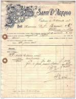 ITALIE - CATANE - SANTI D´ARRIGO - CITRONS - FACTURE + MANDAT - 1921 - Italie