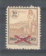 ESPANA / Espagne, Guerra Civil, Locales / Poste Locale LOGRONO, Contra  EL PARO OBRERO, 10 C Brun Neuf *, TTB ! - Nationalist Issues