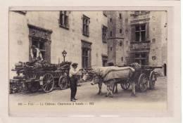 PAU (64) / EDIFICES / CHATEAUX / ATTELAGES / METIERS / BOIS /Le Château/Charettes à Boeufs Livraison De Bois / Animation - Pau