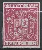 ESPAGNE - Très Bon FAUX Du 6 C. De 1854 Neuf - Unused Stamps