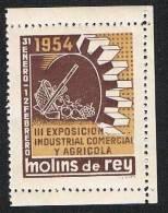 Molins De Rey 1954 3ª Exposición Industris, Comercial Y Agrícola Nuevo Sin Char. - Sin Clasificación