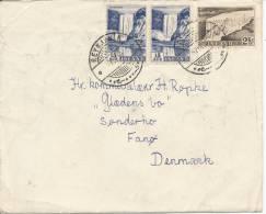 Iceland Cover Sent To Denmark Reykjavik 7-7-1956 From M/S Dronning Aleksandrine - Island