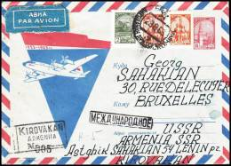 USSR 1963, Airmail Cover Kirovakan To Bruxelles - Lettres & Documents