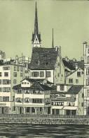 Suisse Zurich Carte Publicitaire Agence Chemins Fers Federaux MONO - Publicités