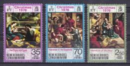 New Hebrides, British 1976 ( Christmas - Flight Into Egypt By Francisco Vieira Lusitano ) - Complete Set - MNH (**) - Religión