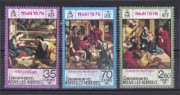 New Hebrides, French 1976 ( Christmas - Flight Into Egypt By Francisco Vieira Lusitano ) - Complete Set - MNH (**) - Religión