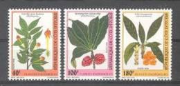 Cote Ivoire - Ivory Coast  (1998)  Yv. 1002/04  /  Flowers - Flores - Fleurs - Blumen - Planten