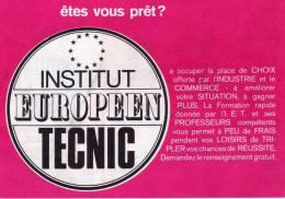 Institut Européen Tecnic - Strasbourg - Demande De Renseignements Pour Cours Par Correspondance - Pubblicitari
