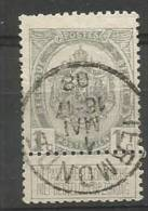 81A Obl  Termonde (+40) - 1893-1907 Wapenschild