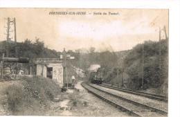 Train . Sortie Du Tunnel . - Bonnieres Sur Seine