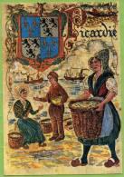 80 / PICARDIE - Cote D´Opale - Illustration Pêche, Blason - Francia