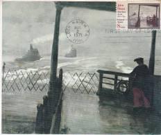 Carte Maximum  ETATS UNIS N° US 1433 (Tableau De John SLOAN) Obl Sp 1er Jour 1971 - Cartoline Maximum