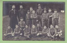 JACQUES SEVIN, Fondateur Des Scouts De France Et Une Patrouille. CARTE PHOTO Début Années 1920, CHAMARANDE. 2 Scans - Scoutisme
