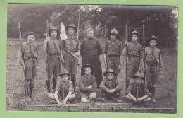 CHAMARANDE : Patrouille Des Ramiers (?) . CARTE PHOTO Années 1920. 2 Scans - Scoutisme