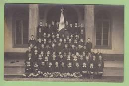 COLLEGE De Mongré, Villefranche Sur Saône : Les Cadets De Mongré. Drapeau Soleil Epée. Scouts Jésuites. CARTE PHOTO - Scoutisme
