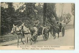 Attelage D'Hindous, Service Du Ravitaillement, Guerre De 1914. 2 Scans. Edition L'H - Weltkrieg 1914-18