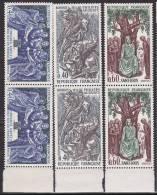 N°1537 à 1539 : Grands Noms: Hugues Capet,Philippe Auguste,Saint Louis : Série Complète En Paires De 2 Timbres - Ongebruikt