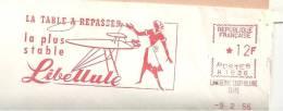 Libellule, Textile, Repasser, Table, La Varenne Saint Hilaire - EMA Secap N - Enveloppe Entière, Pli Hors Marque(M123) - Insectes