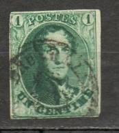 COB 9 Oblitéré 4 Marges Superbe - 1858-1862 Medaillen (9/12)