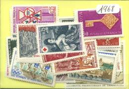 France  Années Completes Neuves ** Luxe 1968 (40 Timbres) - France