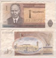 Estland , 1 Kroon, 1992 ,  P-69 , VF - Estland