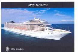 Schepen Ships Bateaux MSC Cruises MSC Musica - Dampfer