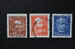1932, Zumstein Nos 191 à 193 Oblitérés - Usados