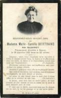 DEP 54 NANCY BULLETIN MORTUAIRE DE Mme BERTRAND 1923 - Religion & Esotérisme