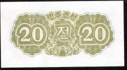 KOREA NORTH  P6  20 CHON 1947   UNC. - Corea Del Norte