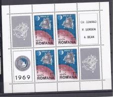 Romania1969:Block74 Mnh** - Space