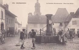 ¤¤  -   3094   -   CHATEAUNEUF   -  La Fontaine Monumentale  -  Place Des Halles  -  ¤¤ - Châteauneuf-du-Faou