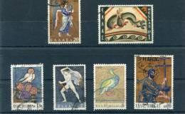 "1970-Greece- ""Mosaic Art"" Complete Set Used - Usados"