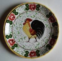 Assiette Au Coq Ugaco -  Rooster Plate - Bord Haan - Hahn Teller (SE380) - Other
