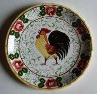 Assiette Au Coq Ugaco -  Rooster Plate - Bord Haan - Hahn Teller (SE380) - Cerámica Y Alfarerías