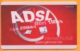 Albania - ALB-110, Sea - Internet ADSL, 90.000ex, 100U, 5/07, Used As Scan - Albanie