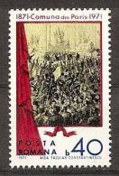ROMANIA 1971 PAINTING PARIS COMMUNE SC # 2233 MNH - 1948-.... Republiken