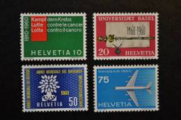 1960, Zumstein Nos 351 à 354** - Ungebraucht