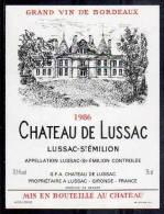 Château De LUSSAC. LUSSAC-SAINT-ÉMILION 1983 - Castles
