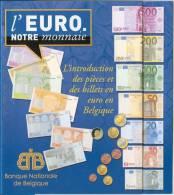DEPLIANT 'L'EURO. NOTRE MONNAIE' - L'introduction Des Pièces Et Des Billets En Euro En Belgique. - Français