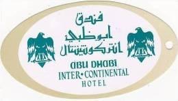 ABU DHABI INTER CONTINENTAL HOTEL VINTAGE LUGGAGE TAG - Hotel Labels