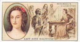 Mitchell Vintage Cigarette Card Famous Scots No 22 Lady Anne Macintosh - Sigaretten