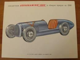 Planche Automobile Ancienne VIOLET 1926 - Publicité Pharmacie Pub Collection Ascorbamine Voiture - Autos