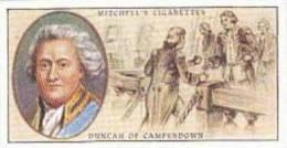 Mitchell Vintage Cigarette Card Famous Scots No 31 Admiral Viscount Duncan Of Camperdown 1731-1804 - Cigarette Cards
