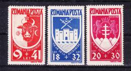 ROMANIA   1943 ,  Bucovina ,   Y&T #  699/701 , Cv   11.25  E ,  ** M N H , V V F - 1918-1948 Ferdinand, Carol II. & Mihai I.
