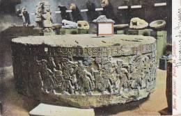Musée - Archéologie - Pierre De Sacrifice - Musée De Mexico - Oblitération 1908 - Museum