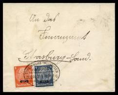 8-12-1941 - Ambulant Strasbourg Mulhouse (Bahnpost Strassburg - Mulhausen) Sur Lettre - Marcophilie (Lettres)